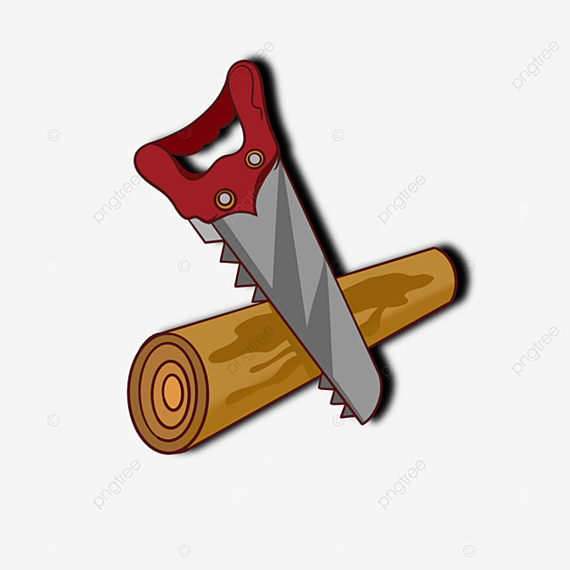red saw wood saw clip art