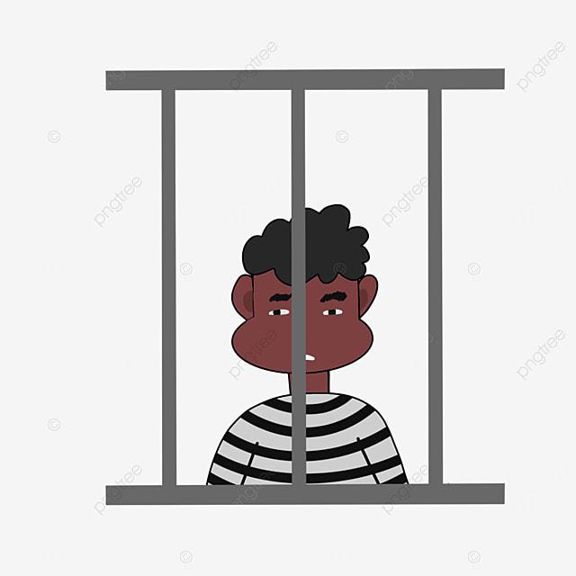regretting prisoner prison clipart