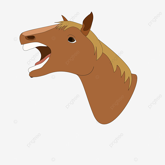 side red brown horse head clipart