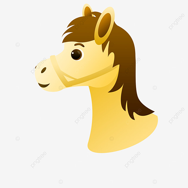 side yellow horse head clipart