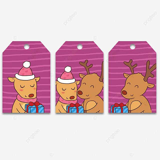 sika deer couple cute tags