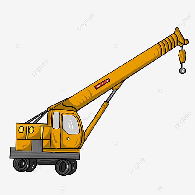 small wheel crane clip art