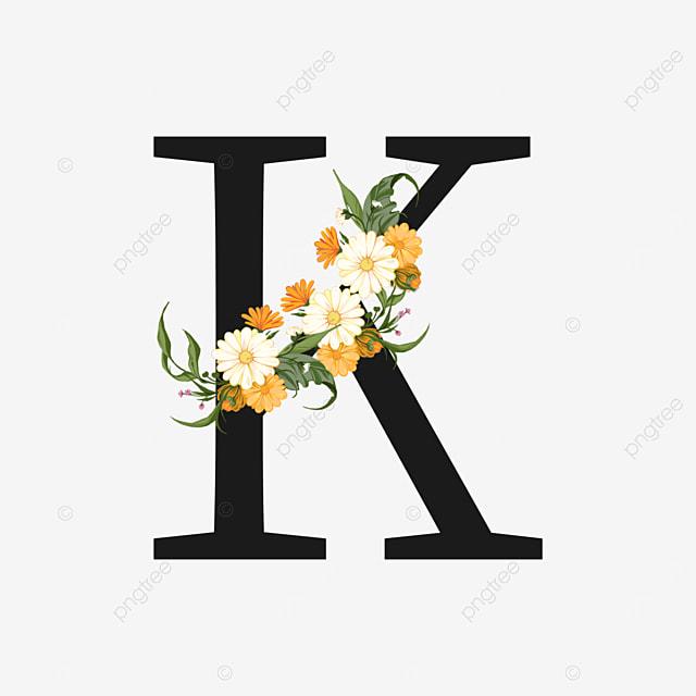 yellow white chrysanthemum flower decoration black k letter
