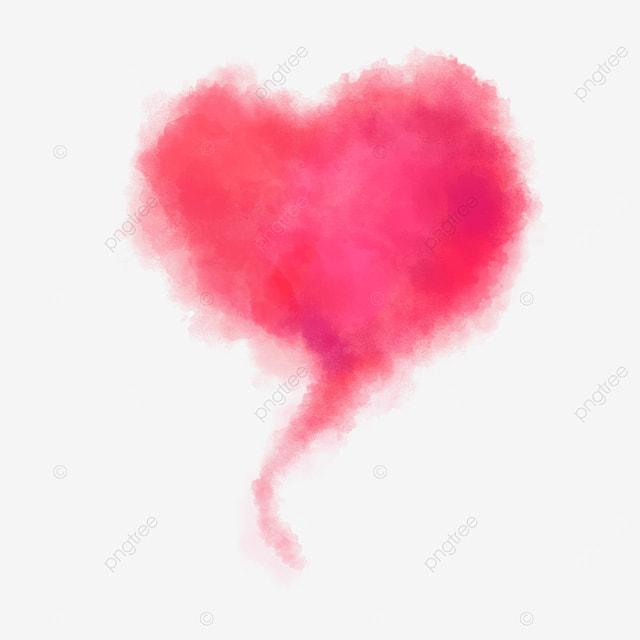 beautiful warm red smoke love heart decoration