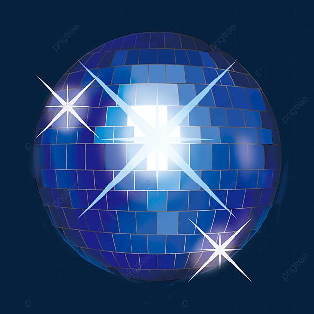 blue glitter disco ball clipart