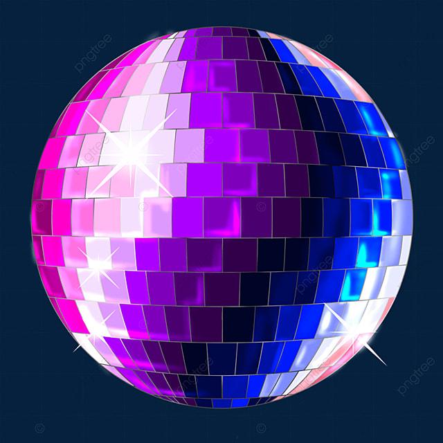 blue purple subject multicolor mixed glitter disco ball clipart
