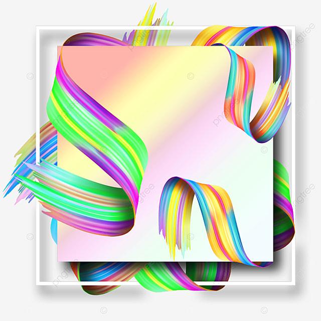 brush abstract texture white border