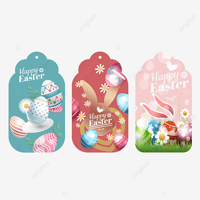 bunny easter three dimensional egg label