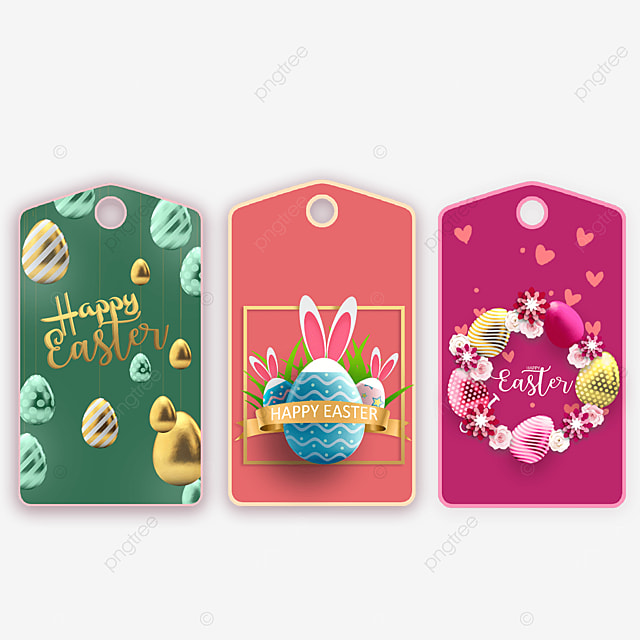 bunny egg easter tags