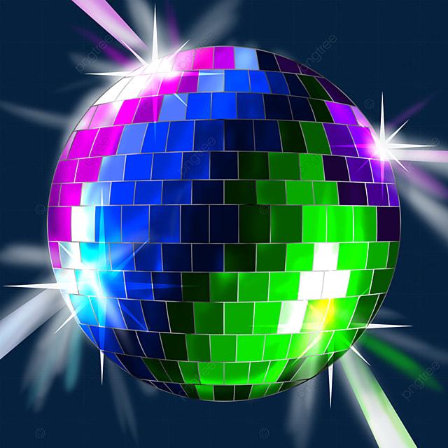 color mix multi color disco ball clip art