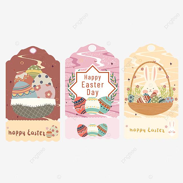 cute easter eggs tags