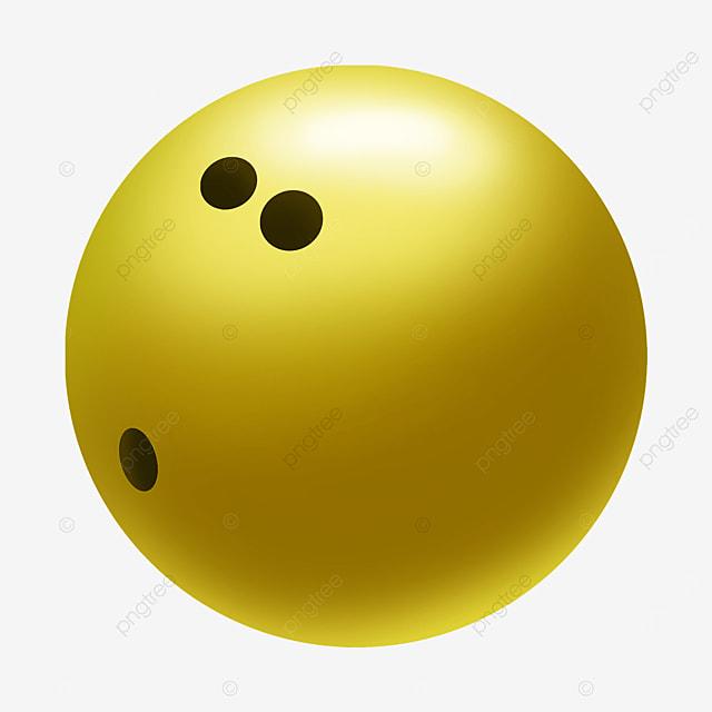cute yellow bowling ball clipart