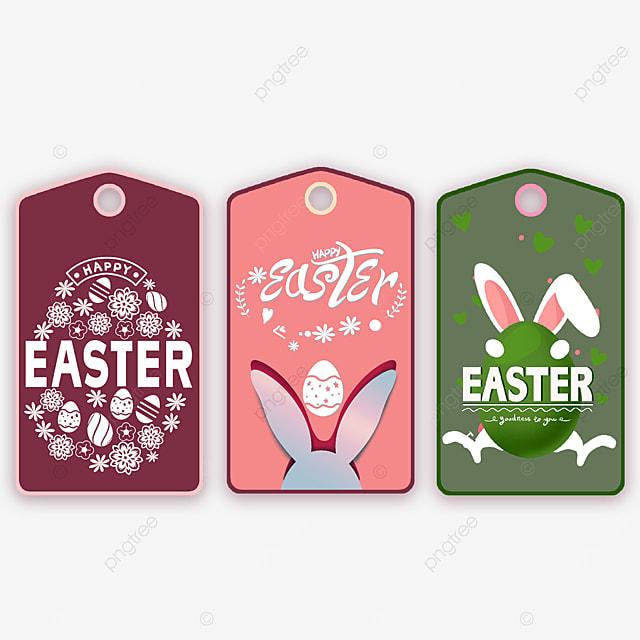 easter bunny ears cartoon tags