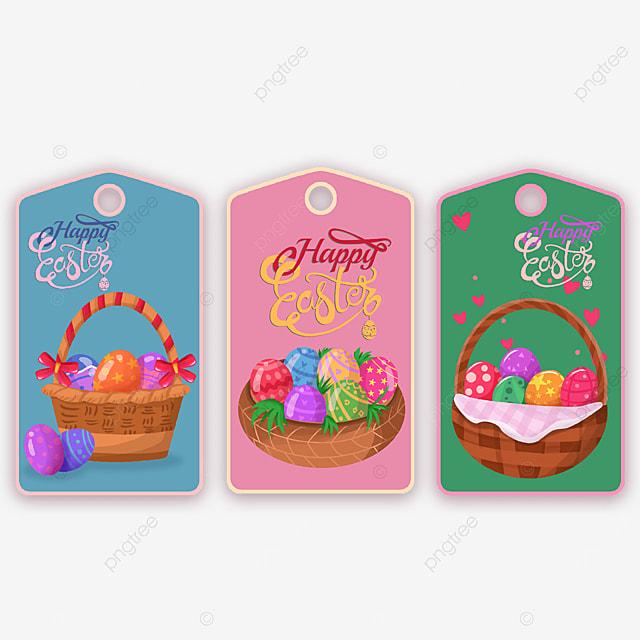 easter egg basket tags