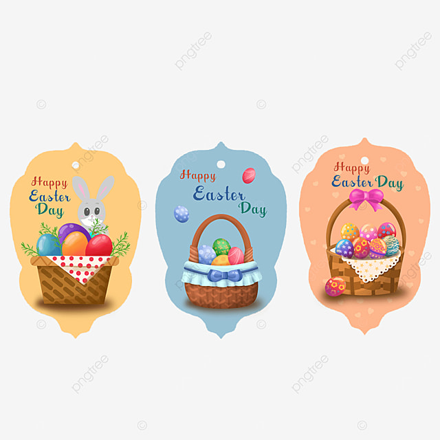 easter tags with bows and ribbons