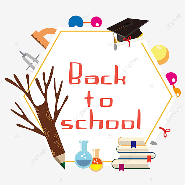 education stationery border smart student