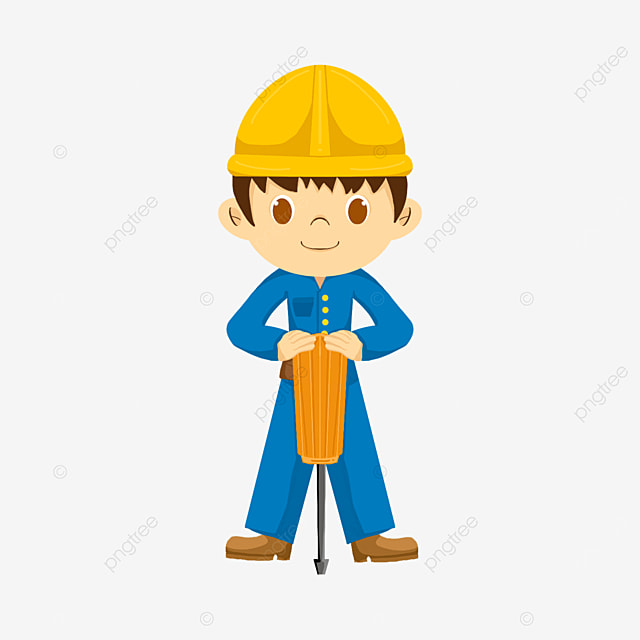 electrician holding a screwdriver clipart