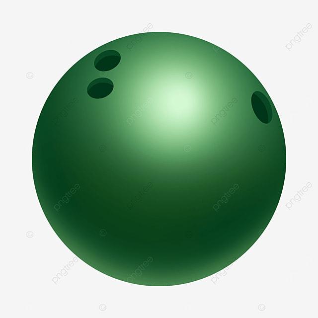 emerald gradient reflective bowling clip art
