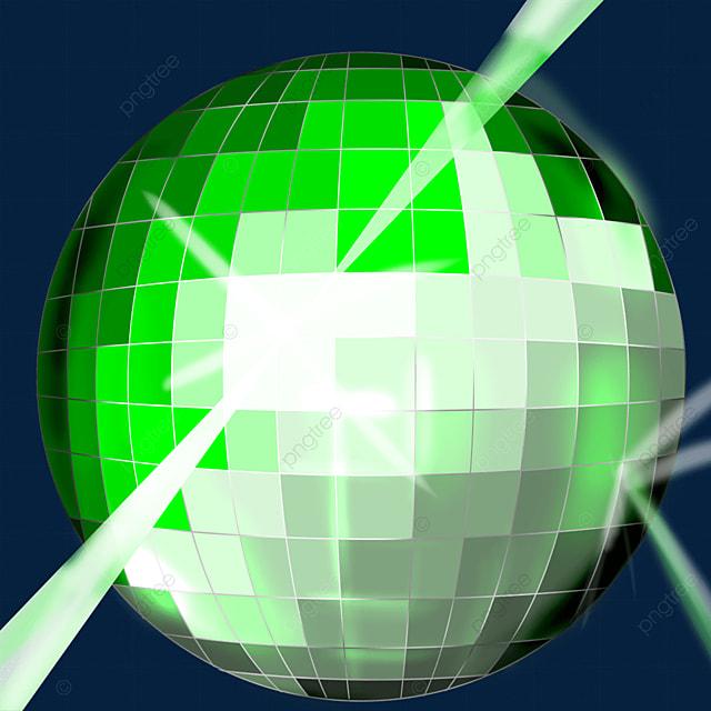 green glitter disco ball clipart