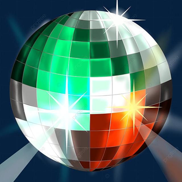 mixed colors glitter disco ball clipart