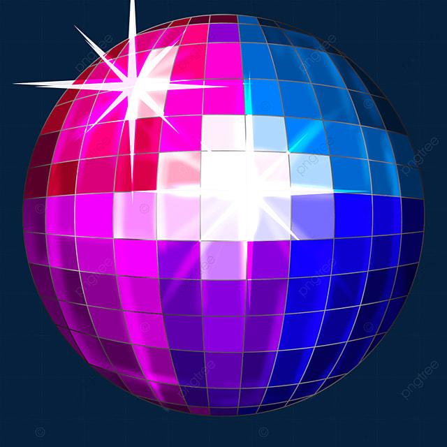 multicolor mixed shiny disco ball clipart