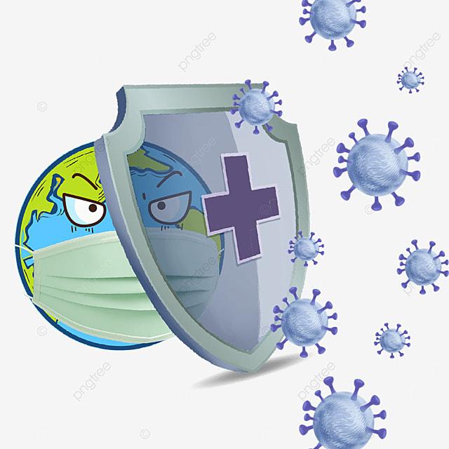 novel coronavirus cartoon earth epidemic prevention