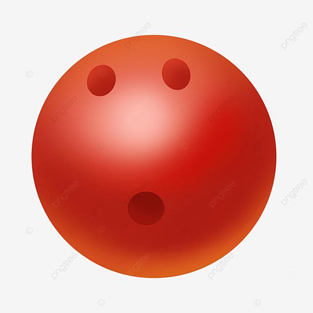 orange red gradient reflective bowling clip art