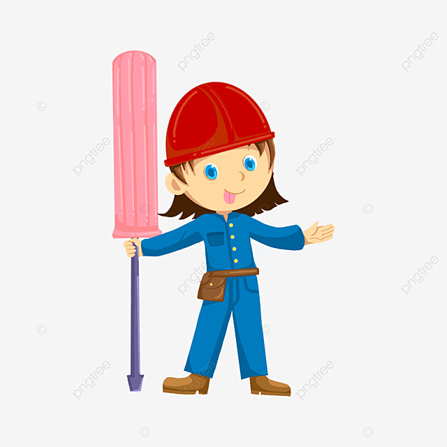 pink screwdriver electrician clipart