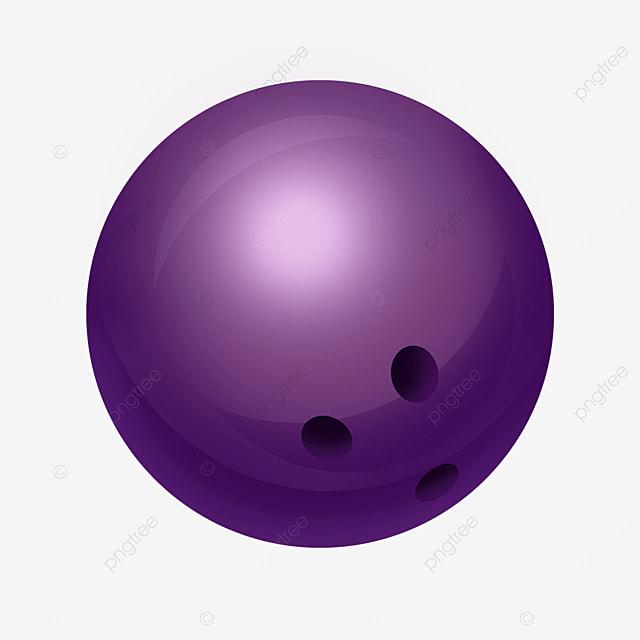 purple round ball bowling clip art
