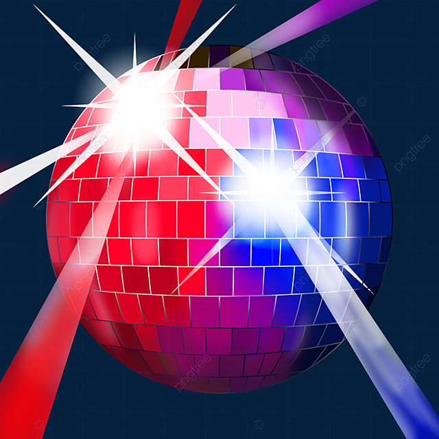 red and blue word color mixed glitter disco ball clipart