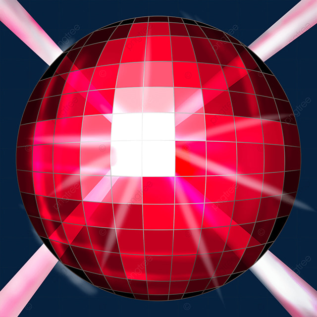 red glitter disco ball clipart
