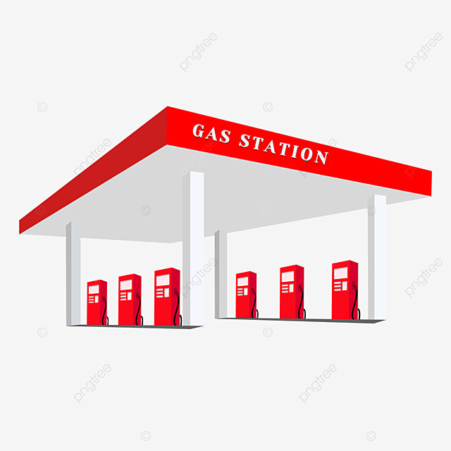 red stereo gas station clip art