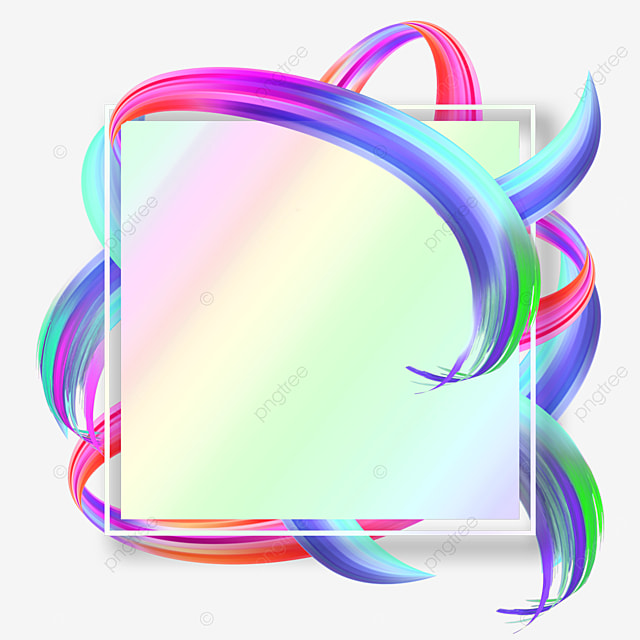 square gradient brush abstract texture border