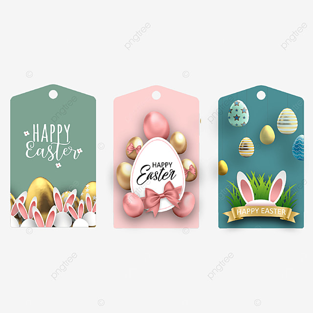 three dimensional egg easter tags