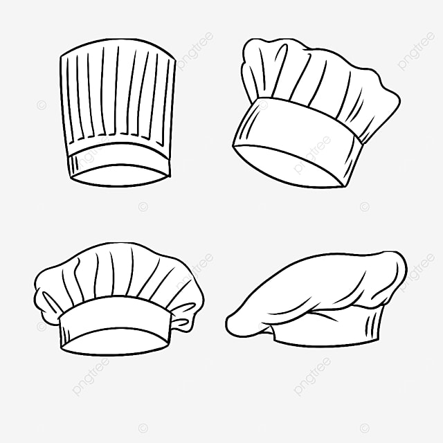white chef hat combination
