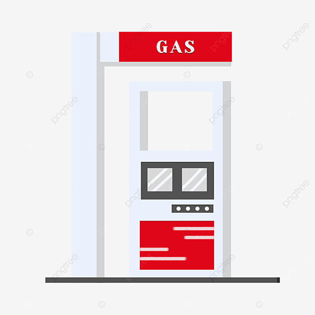 white gas station clipart