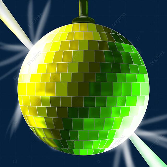yellow green mixed shiny disco ball clipart