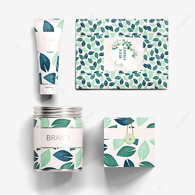 a collection of environmentally friendly cosmetics packaging
