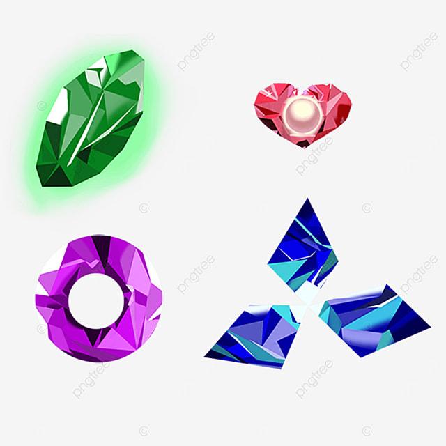 blue clover shaped gem
