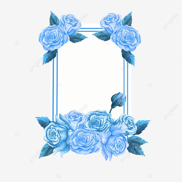 blue enchantress rose wedding border