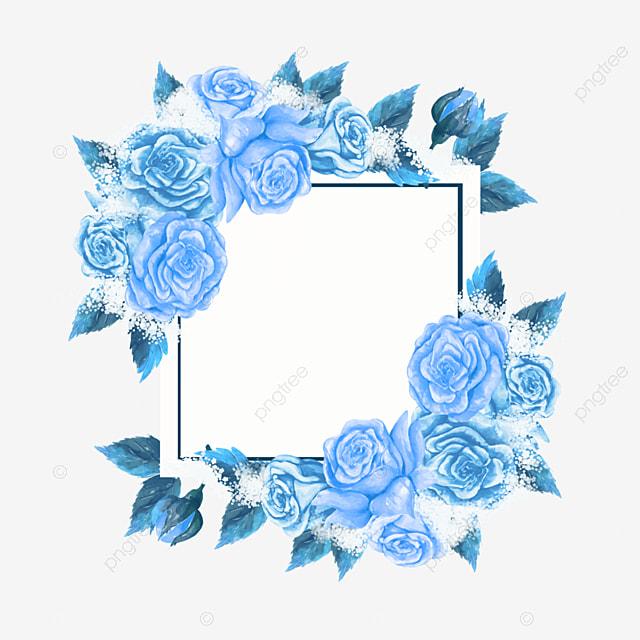 blue rose wedding border flower