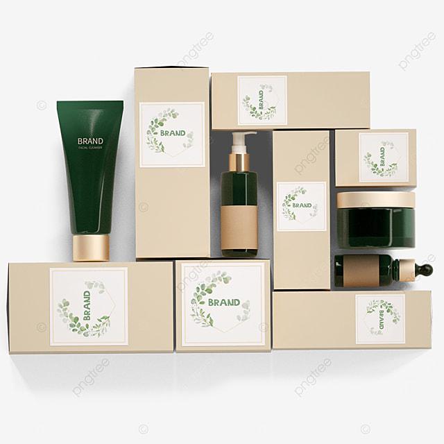 brown cosmetic packaging box