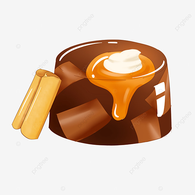 brown delicious chocolate jelly clipart