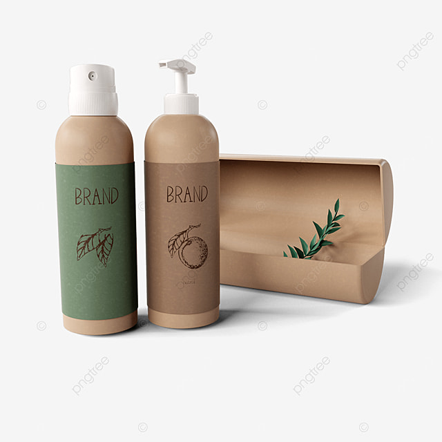 brown paper texture cosmetic packaging