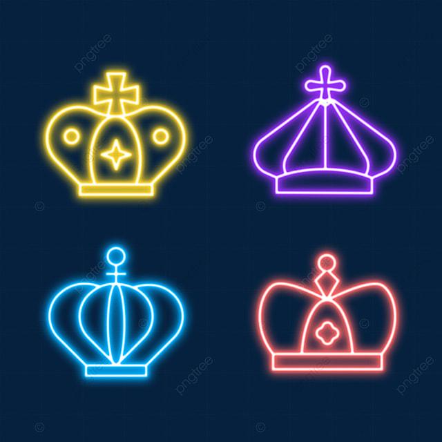 color combination headdress neon light effect crown