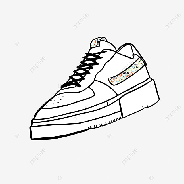 color matching leather running shoes casual fashion clipart