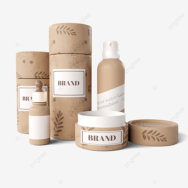 eco friendly paper texture cosmetic packaging