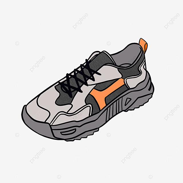 fashion trend mens running shoes clipart