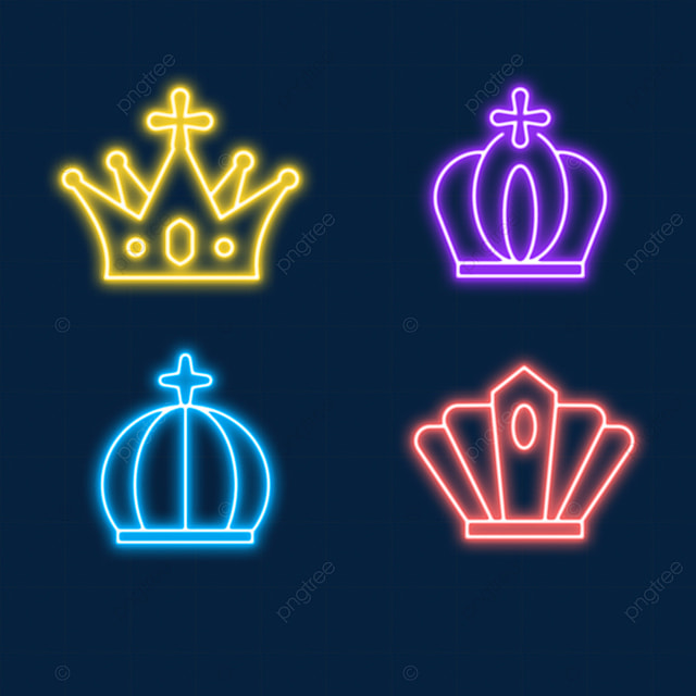 fashionable neon light effect crown