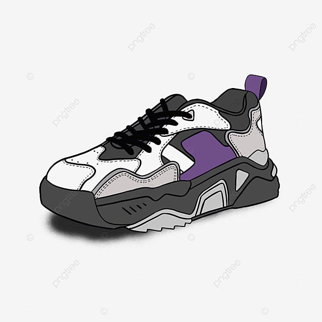 fitness running shoes fashion clipart